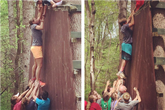 Team-building exercise at Barefoot Republic Camp
