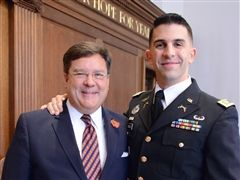 Capt. Ciccolo '05 with his RL advisor, Headmaster Kerry Brennan.
