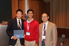 Andrew Zhang III, Kalyan Palepu II, and Dr. Kevin Fang (CABA president)