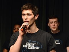 Ben Kieff '16 with Yale's SOBs at A Cappella Fest 2018