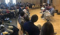 Student Forum on Immigration in the Evans Choral Room