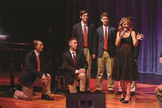 Kelli O'Hara shares the stage with student singers