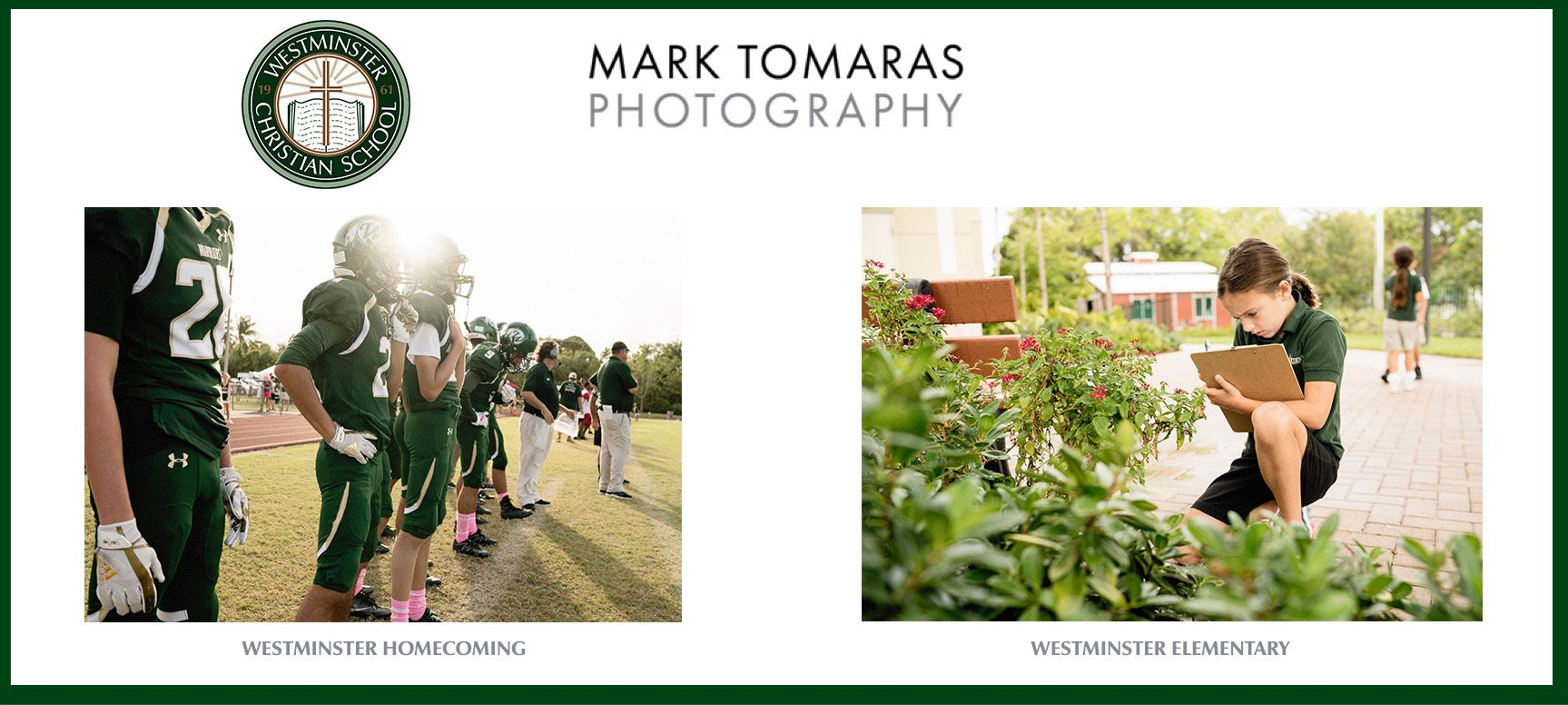 View professional photos taken throughout the year. Check back as more will be added!