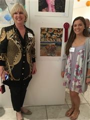 WCS Art Teacher Mrs. Donna Underwood and Ashley Castano '17