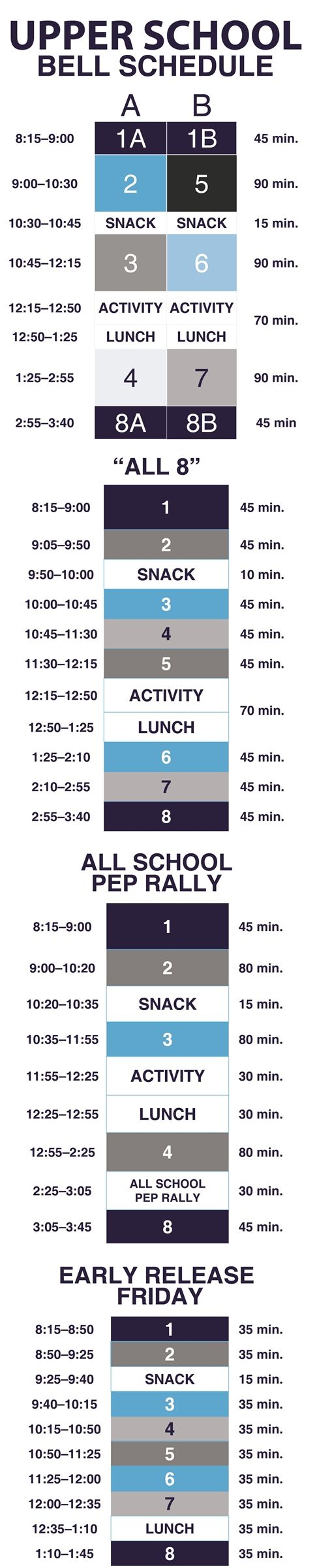 2018-2019 Upper School Bell Schedule