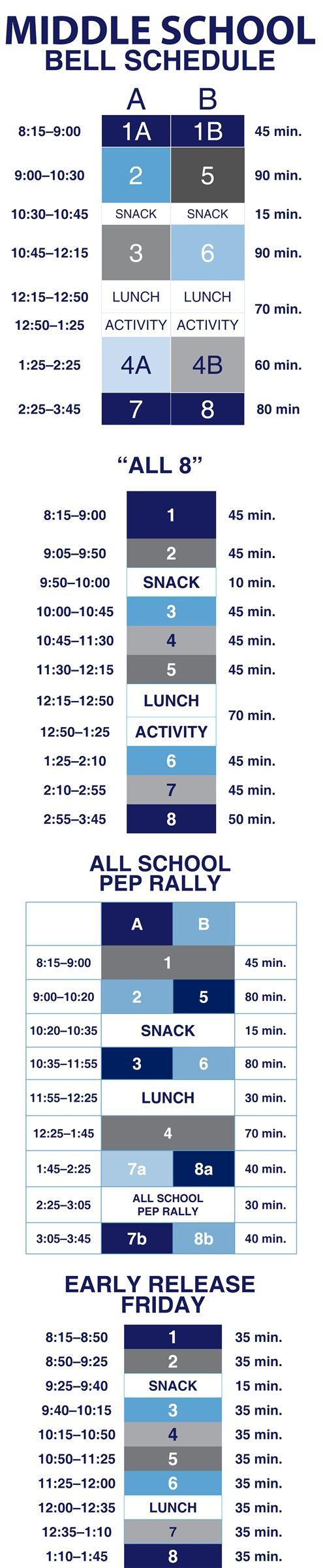 2018-2019 Middle School Bell Schedule