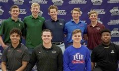 Congratulations to these student athletes! Back row: Joseph Wolf, Cameron Baller, Mason Packwood, Brett Huff, and Pryor Thomas. Front row: Andre Washington, Logan Graham, Brayden Kelly, and JayQuan Smith