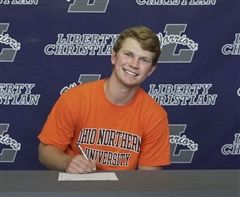 Corey McMann signs to  play baseball for Ohio Northern University