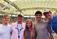 Students at the US Open