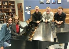 Congratulations to choir students Sara Beauchamp, Kylie Lewis, Reed Taber, Ben Ward, and Braedon Lindsey