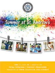 Summer at St. Andrew's Camp Catalog 2018