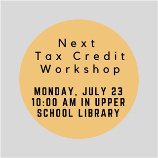 Tax Credit Workshop
