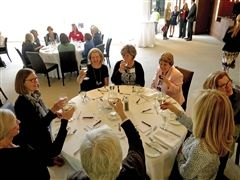 Kathy at our Ladies Luncheon in 2016 at the Toronto Lawn Tennis Club, a venue she graciously secured for the event.