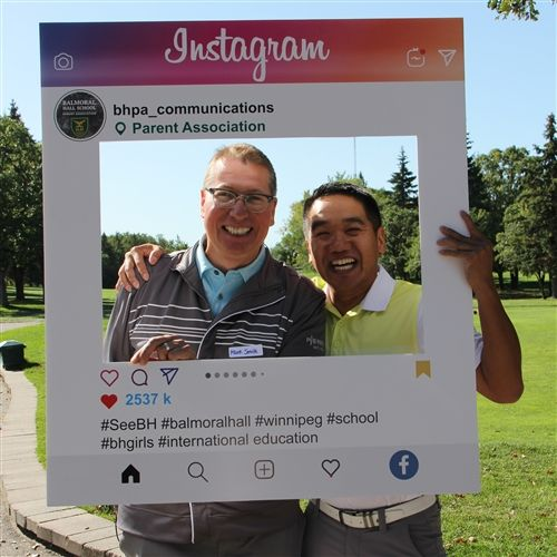 BHPA Nine & Wine Golf Classic Co-Chairs Mark Smith and Carey Lai