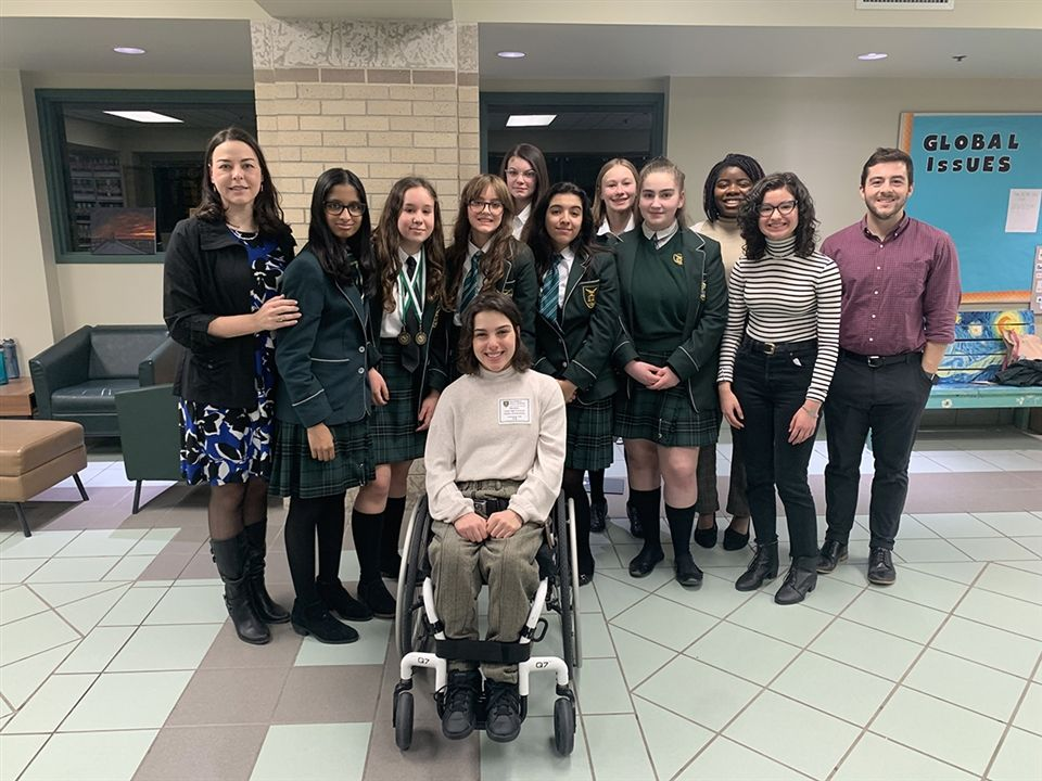 Balmoral Hall School competitors and coaches at Junior Provincial Debating Championships, March 8, 2020.