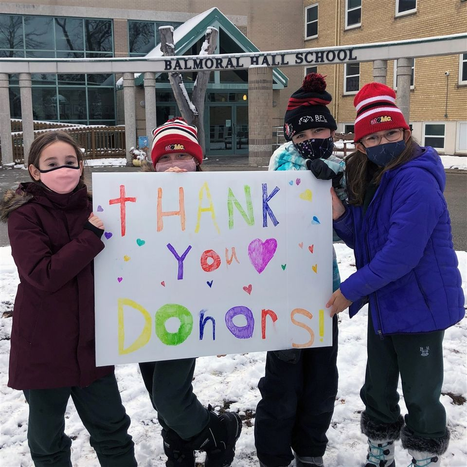 Thank you, donors! Grade 5 students express their gratitude, October 2020.
