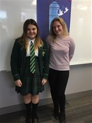 Samantha Lowe '22 and Julie Clark '09, January 2018.
