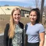 Campus Guide Anika and Saije at CMU, April 2019