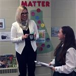 Hon. Rochelle Squires visits Grade 5 class, April 2019.