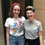 Marina & Emma, Co-Leaders of Rainbow Club, organized Pride, May 2019
