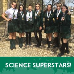 Seven of our Grade 8 students took home awards from the Manitoba Schools Science Symposium.