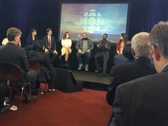 Winnipeg panelists discussed their communities at CBC/Radio-Canada's Annual Public Meeting Sep. 29/15.