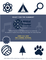 2019 Wildcat Summer at The Carmel School