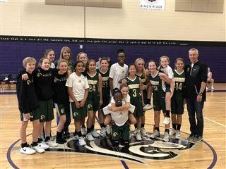 Middle School Girls Basketball Falls to Kings Ridge in Metro