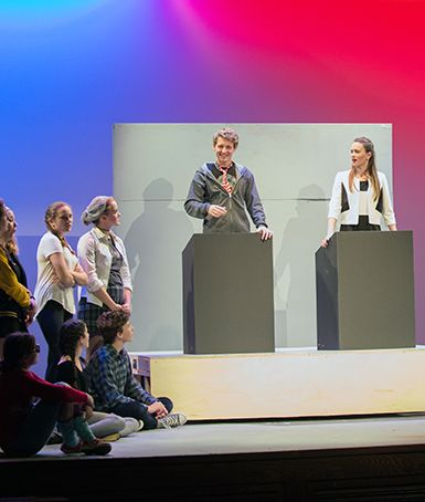 "Upper School Students Stage Hilarious Performance of ""The Election"""