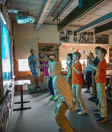 Middle School students break it down in the Just Dance mini course.