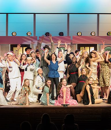 "Cole Porter's ""Anything Goes"" on stage in Riely Theatre."