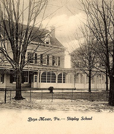 Kennedy House, Shipley's home from 1895 to present. On right is the original schoolhouse, built in 1896.