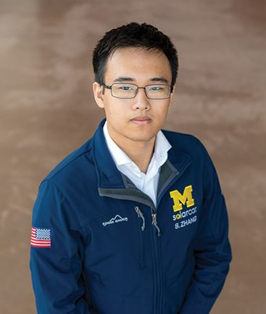Steven Zhang '18 is a mechanical engineering major and electrical engineering minor at the University of Michigan College of Engineering. As Race Operations Engineer for the University's Solar Car Team, he oversees metals manufacturing and supply chain logistics.