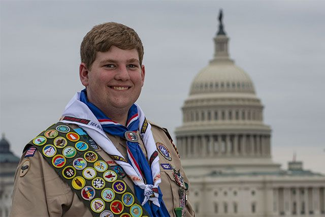 Trevor Burke '19 at the U.S. Capitol.