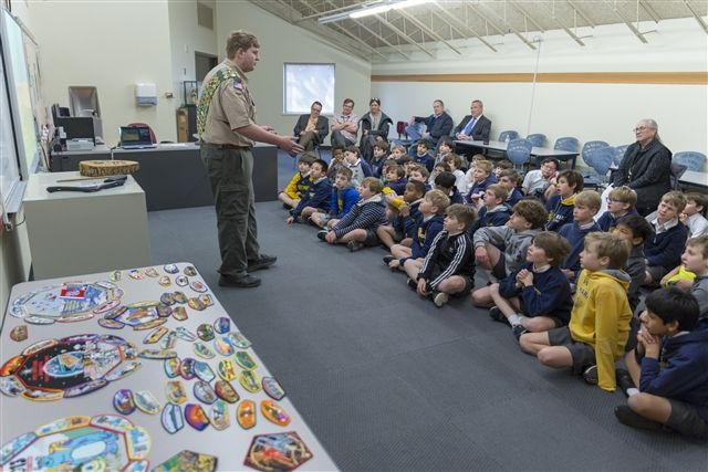 Trevor shares his Scouting adventures with the Fourth Grade.