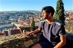 Josh in Lisbon, Portugal, while studying abroad.