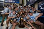 Tim Simenc '15 (back row, second player from the left) and his teammates celebrate their NCAA Championship