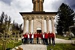 The team visits Snagov Monastery