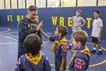 Lower School Cub Scouts thank Coach Arredondo for his service.