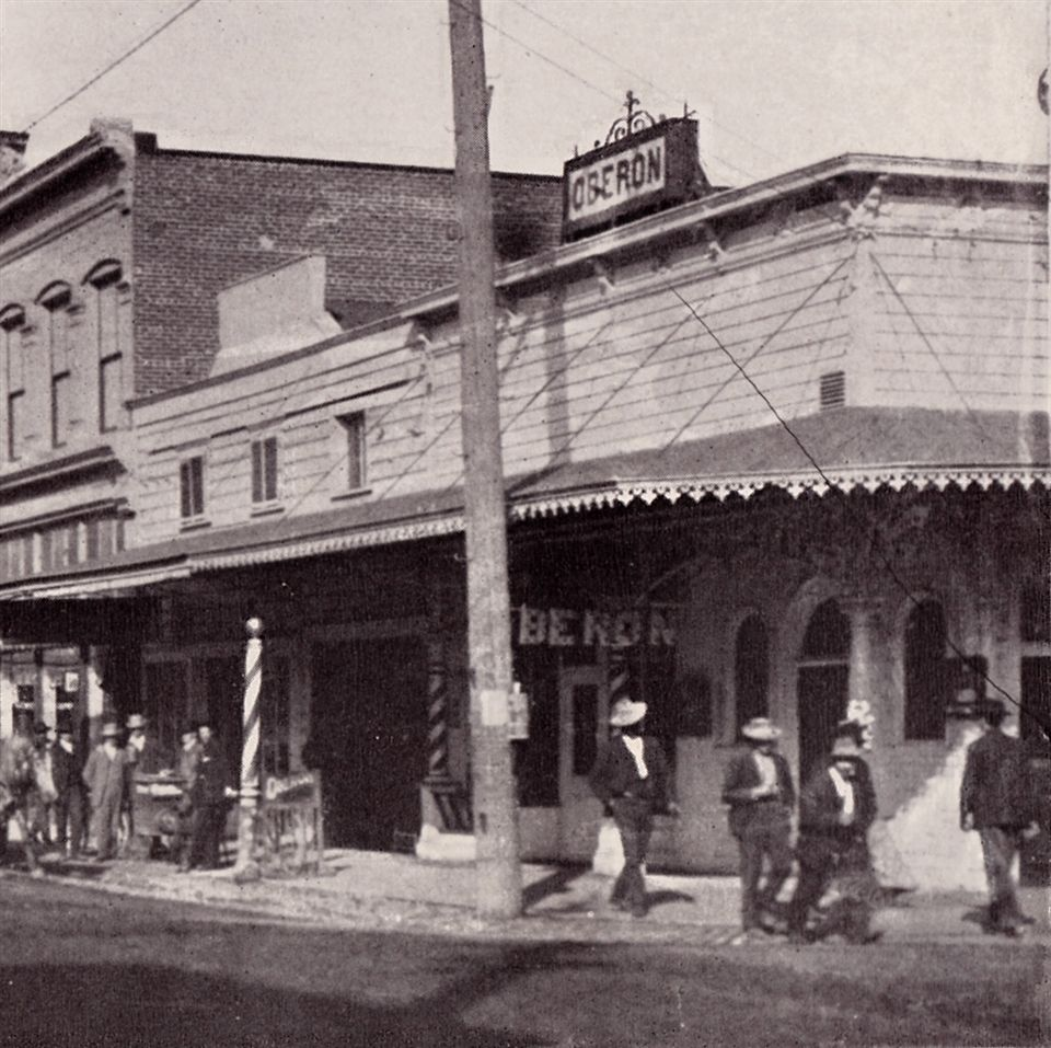 The Oberon Building in downtown Napa pictured in the early years of the last century