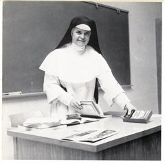 Principal and teacher Sister Carol Quinn in 1966