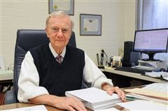 Bob Zeller in his office at Zeller, Hoff, and Zeller.