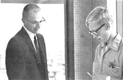 Br. Conrad with Mr. Jim Day '72 as a student in 1970
