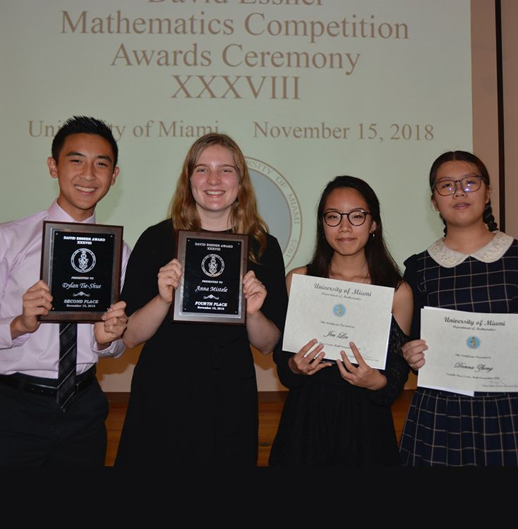 Distinguished mathematicians