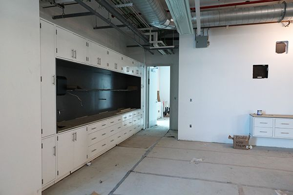 Under-construction laboratory in the STEM Center