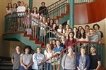 Eighteen French exchange students, student hosts and teachers