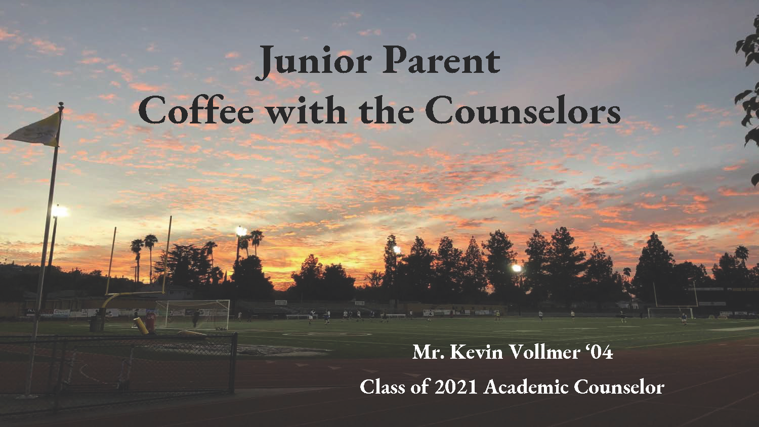 Junior Coffee with the Counselors
