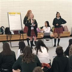 Student Government Prefect, Calista, planned and facilitated November's Student Forum.