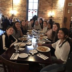 French excursion participants lunched at Le Papillon.