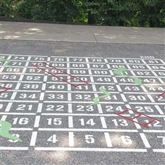 Snakes and Ladders offers a fun opportunity for collaborative play.
